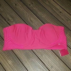 Xhilaration hot pink bandeau bikini top